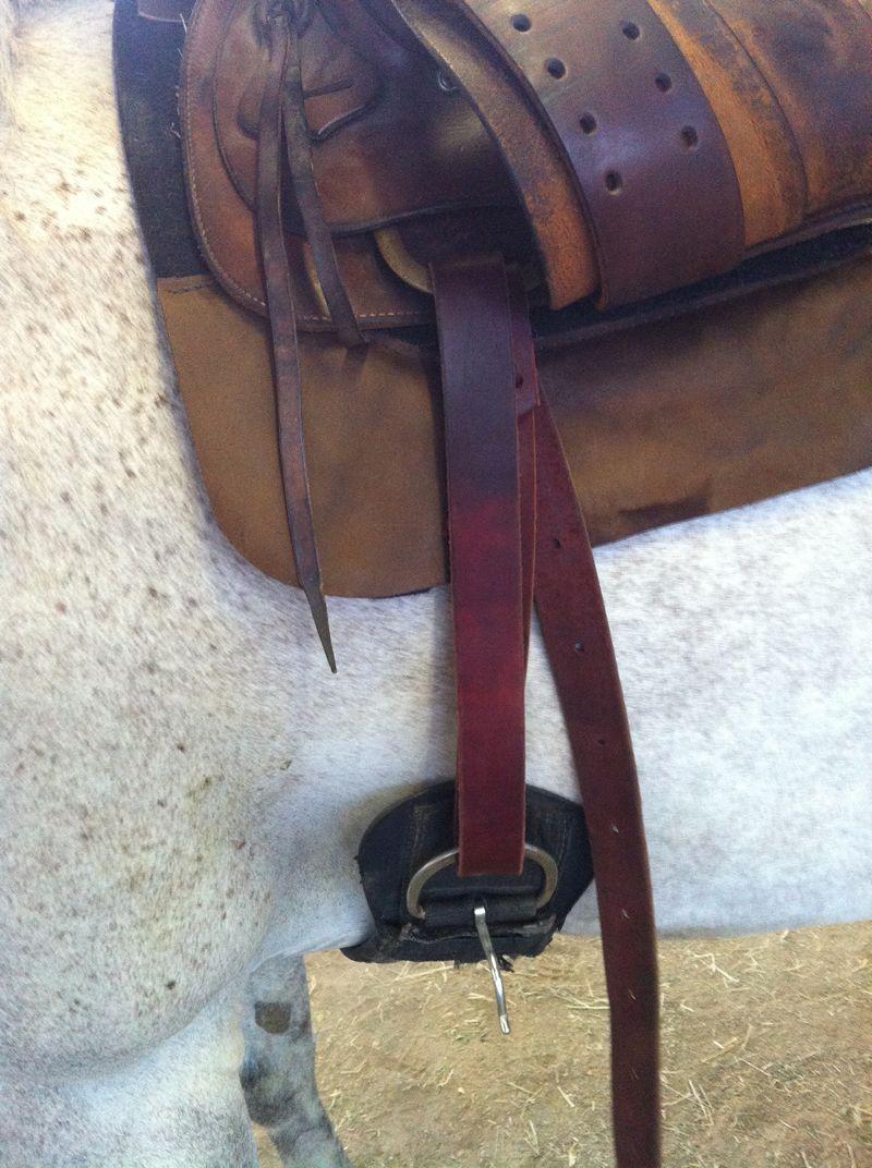 strap through saddle loop