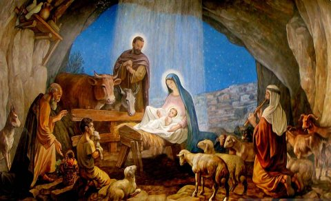 Birth of Jesus in Manger