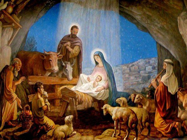 Birth of Jesus in Manger