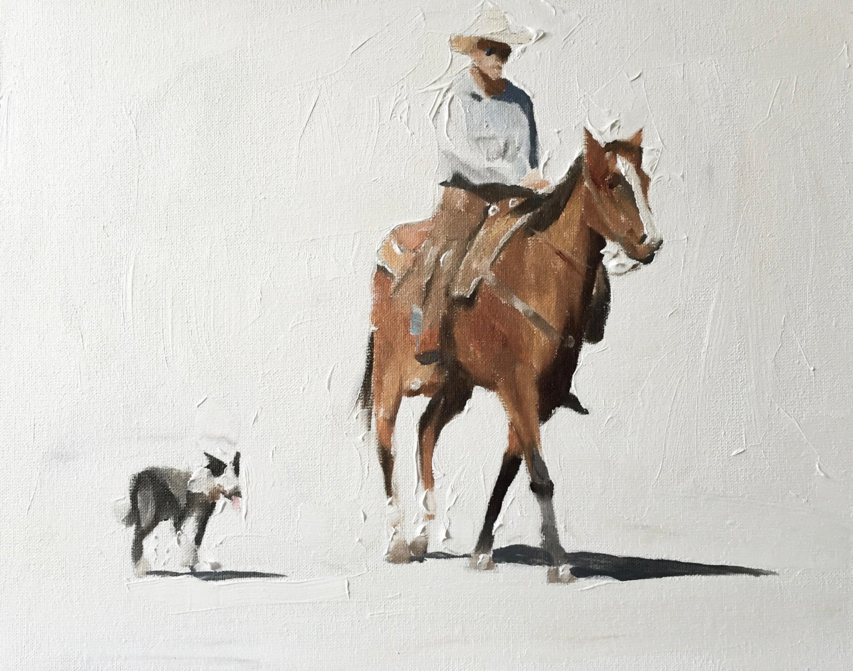 Cowboy Horse Dog